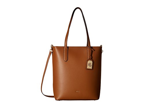 LAUREN Ralph Lauren Women's Dryden Alexis Tote Field Brown/Monarch Orange One Size