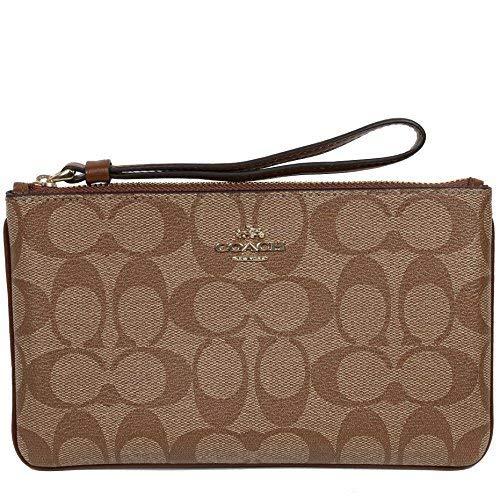 Coach Wristlet Wallet Clutch Bag PVC Leather F58695