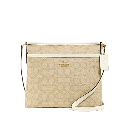COACH FILE CROSSBODY IN SIGNATURE JACQUARD F29960 IMDQC, KHAKI/CHALK