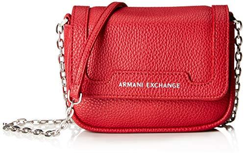 A X Armani Exchange Chain Strap Small Crossbody Bag, Royal red 71