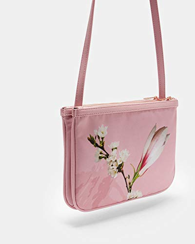 Ted Baker Harmony Nylon Double Pouch Crossbody (Pale Pink)