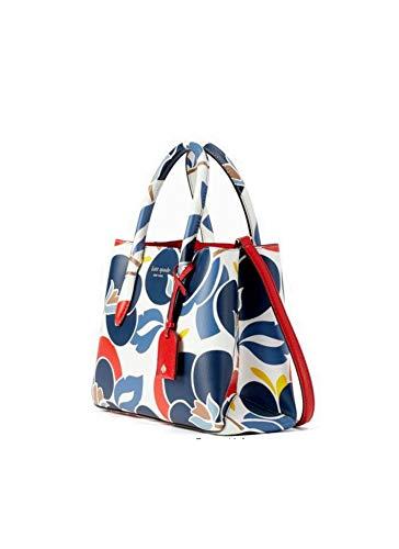 Kate Spade Eva Breezy Floral Small Satchel Leather Women's Crossbody Bag Handbag