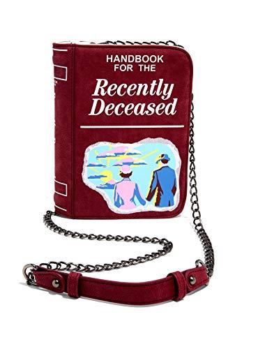 Spirit Beetlejuice Handbook For The Recently Deceased Crossbody Bag, Brown, 6″ x 9″ x 2 1/4″