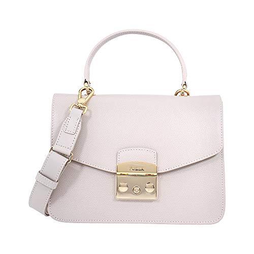 Furla Metropolis Ladies Small White Perla Leather Shoulder Bag 978123