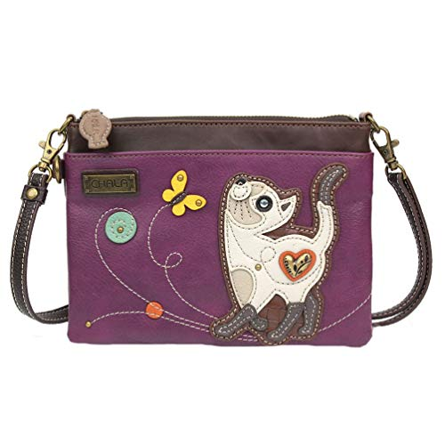 Chala Slim Cat Mini Crossbody Handbag – Convertible Strap, Cat Lovers Gift