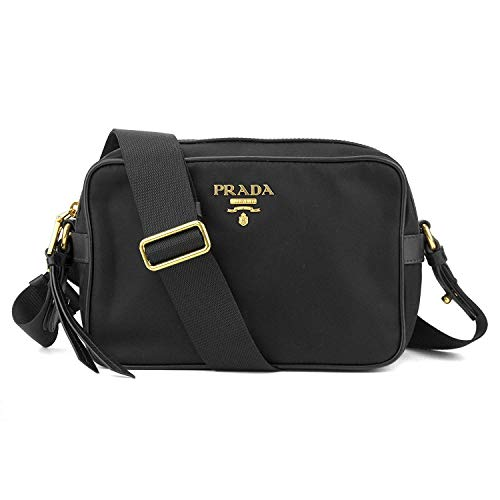 Prada Women's Black Tessuto Nylon Crossbody 1BH089
