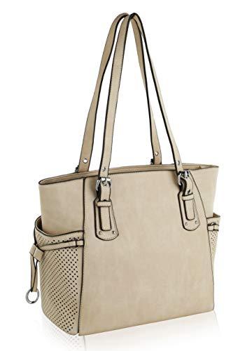 MKF Shoulder Handbag for Women: Vegan Leather Satchel-Tote Bag, Top-Handle Purse, Ladies Pocketbook