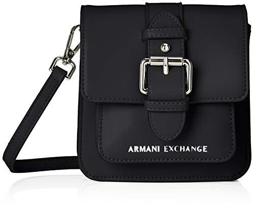A X Armani Exchange Buckle Fashion Small Crossbody, Nero-Black 300
