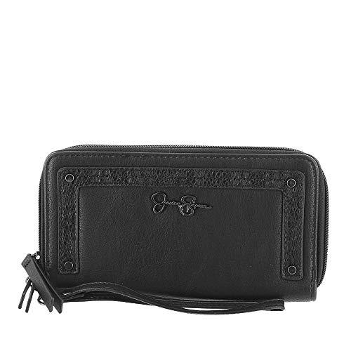 Jessica Simpson Double Zip Wristlet/Wallet Black Color