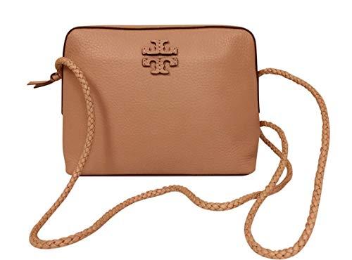 Tory Burch Taylor Camera Bag Leather TB Logo – Brown (Saddle) 55440