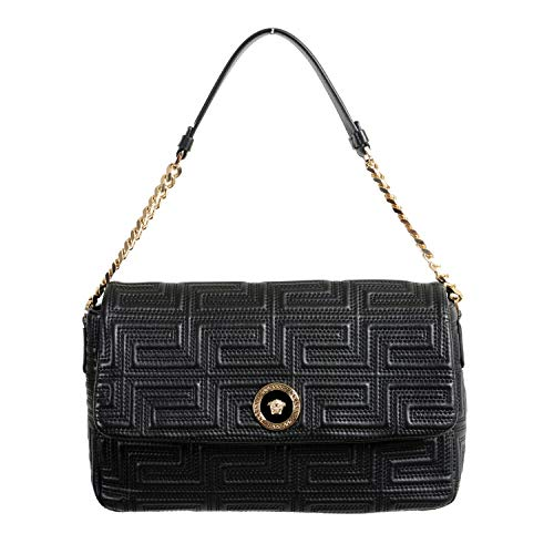 Versace 100% Leather Black Women's Shoulder Bag
