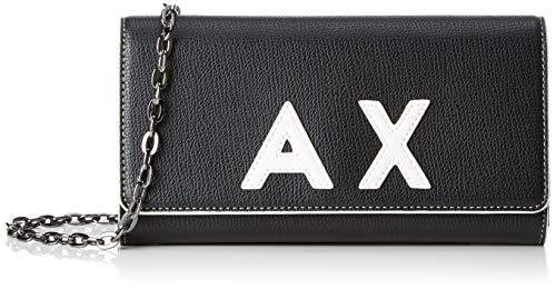A X Armani Exchange Women's Wallet with Chain, black/white – black/white 51