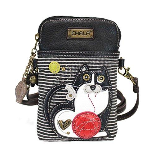 Chala Fat Cat Cellphone Crossbody Handbag – Convertable Strap, Cat Lovers Gift