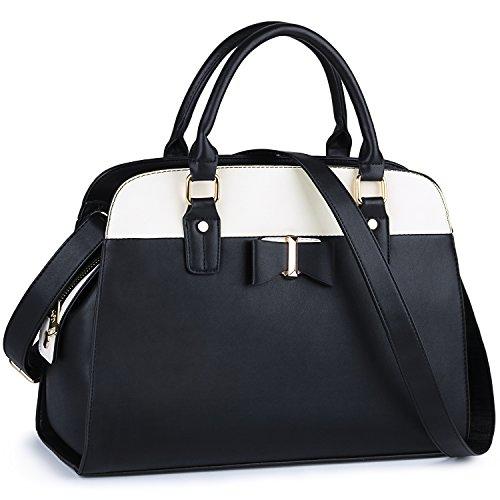 Black Purse, COOFIT Satchel Bags for Women Purses and Handbags for Women