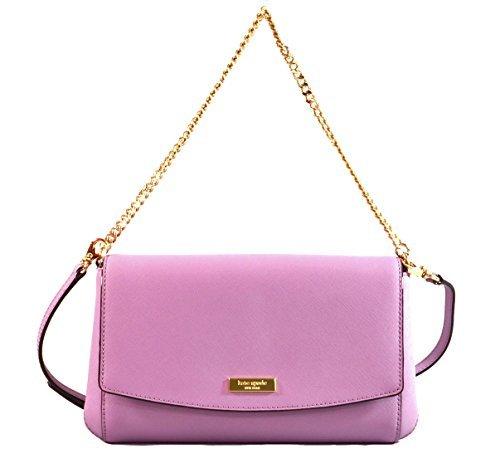 Kate Spade Greer Laurel Way Saffiano Leather Crossbody Shoulder Bag Purse Handbag Clutch, Lilac Petal