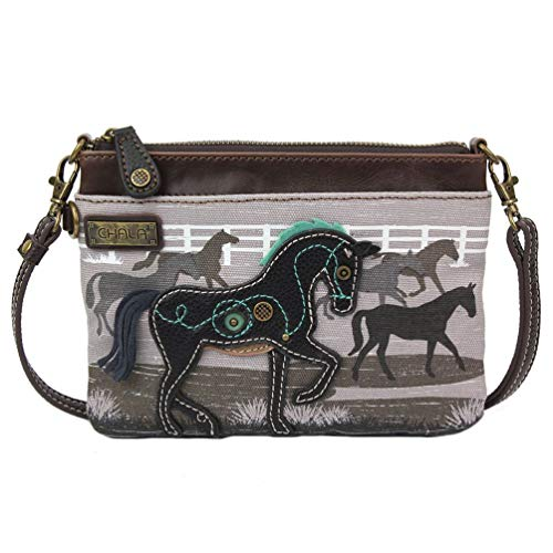 Chala Handbags Safari Horse Mini Crossbody Handbag, Horse Lover