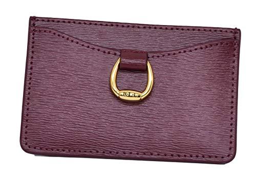 Lauren Ralph Lauren Bennington Womens Mini Leather Card Case Merlot Handbags & Accessories