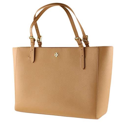 Tory Burch Emerson Large Buckle Tote Saffiano Leather Handbag 49125 (Cardamom)