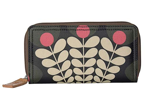 Orla Kiely Bunch of Stems Big Zip Wallet Forest One Size