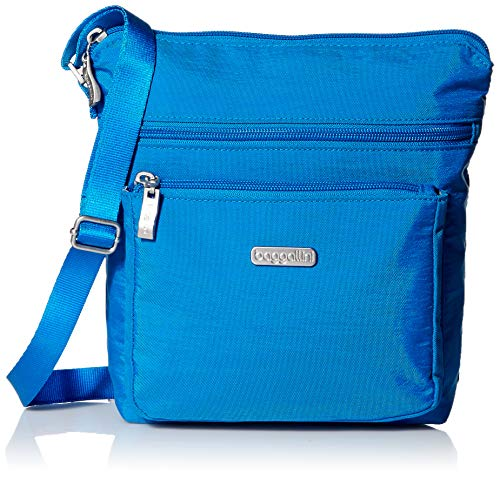 Baggallini Pocket Crossbody with RFID, Directoire Blue