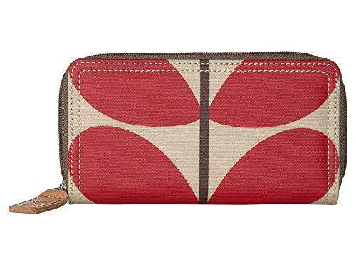 Orla Kiely Solid Stem Print Big Zip Wallet Red One Size