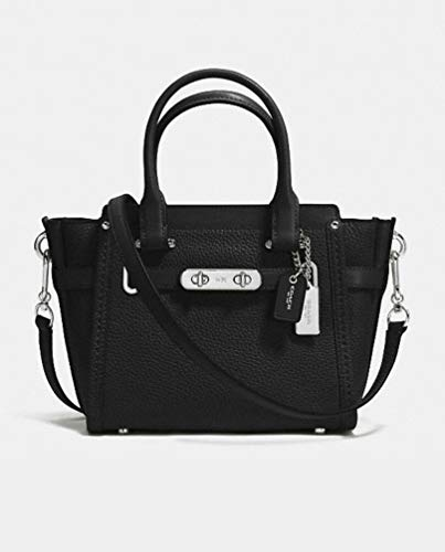 COACH Women's Id Pebbled Leather Swagger 27 Mw/Black One Size