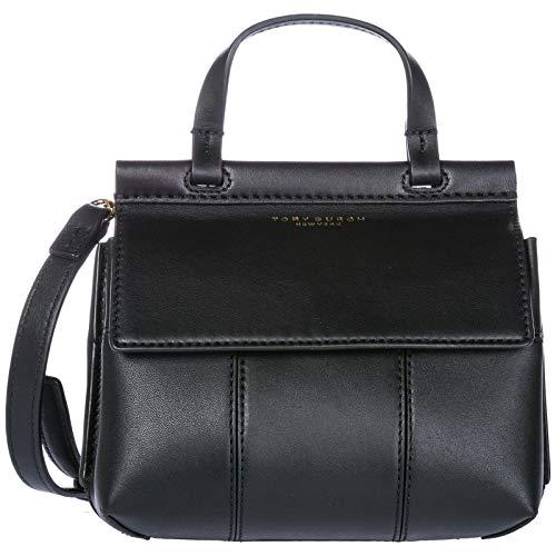 Tory Burch T Mini Ladies Black Leather Satchel 36777-001