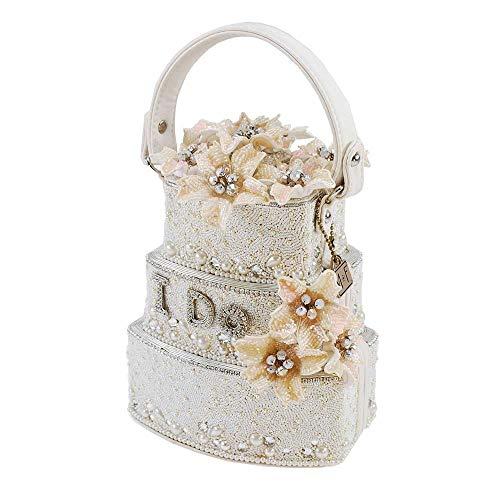 Mary Frances Sweet Beginning Embellished Wedding Cake Top-Handle Bag, Off-White
