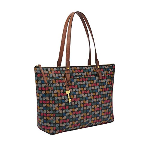 Fossil Women's Rachel PVC Tote Handbag, Multi Signature
