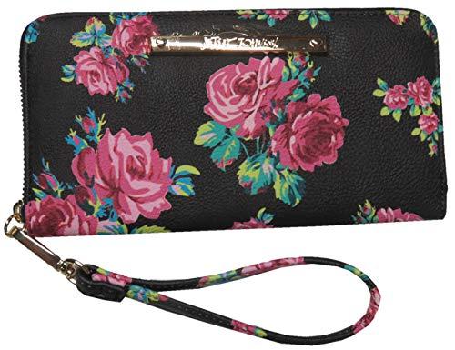 Betsey Johnson Women's Z/A Floral Wristlet/Wallet Black/Floral