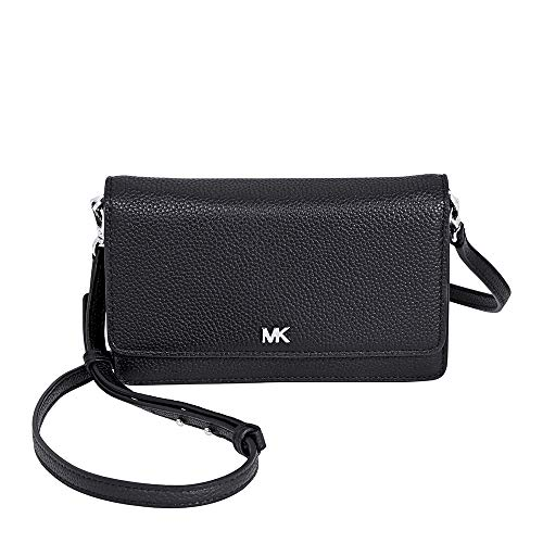 Michael Kors Pebbled Leather Convertible Crossbody- Black