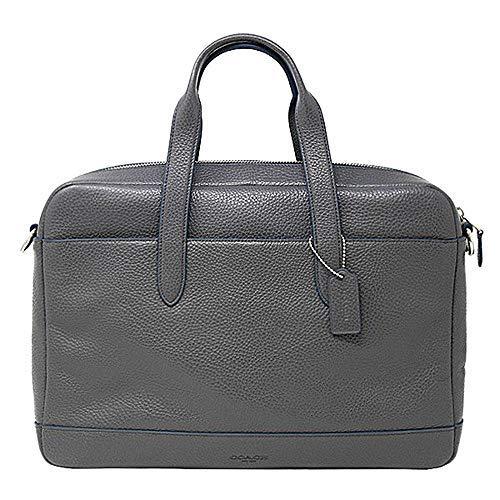 Coach Hamilton Pebbled Leather Briefcase Tote – #F11319 – Grey