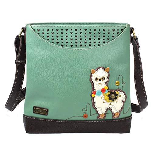 Chala Handbags Llama Sweet Messenger Bag Purse, Llama Collector