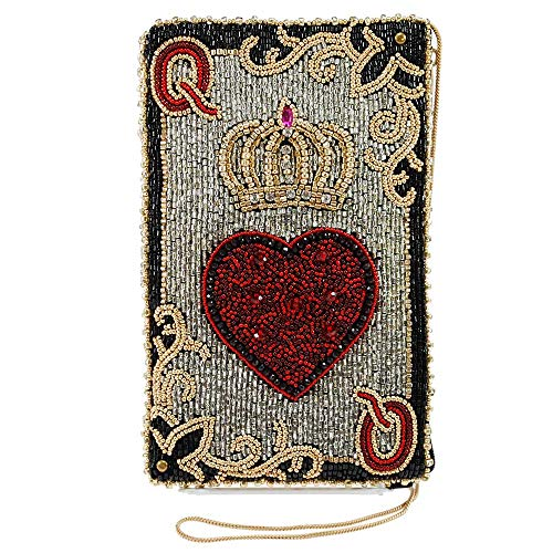 Mary Frances Beaded Crossbody Phone Bag (Queen of Hearts)