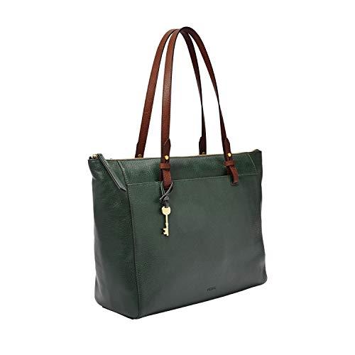 Fossil Women's Rachel Leather Tote Handbag, Spruce