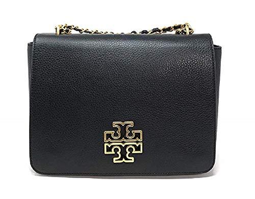 Tory Burch 55444 Black and Gold Britten Shoulder Bag
