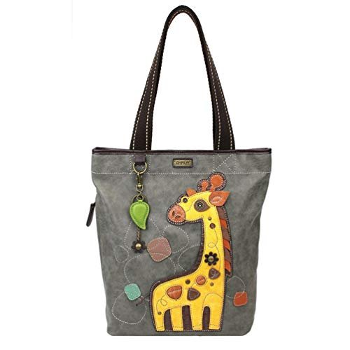 Chala Giraffe Everyday Zip Tote Shoulder Bag