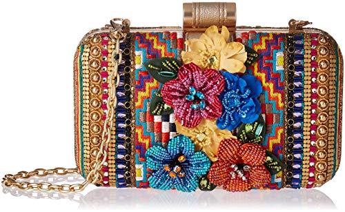 Mary Frances Jubilee Embellished Floral and Geometric Crossbody Handbag, Multi