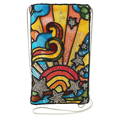 Mary Frances Beaded Crossbody Phone Bag (Rainbow Burst)