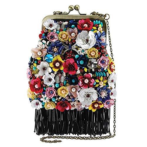 Mary Frances Party Time Embellished Crossbody Clutch Handbag Purse, Multi