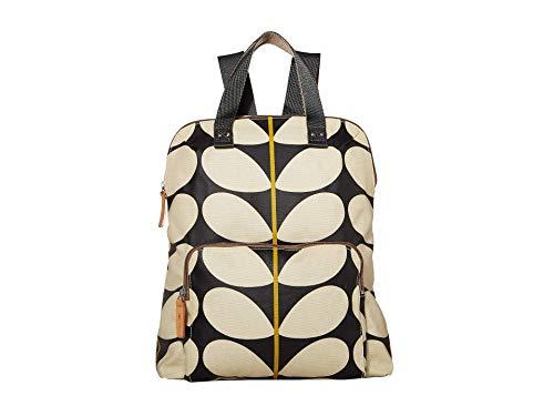 Orla Kiely Solid Stem Print Backpack Tote Black One Size