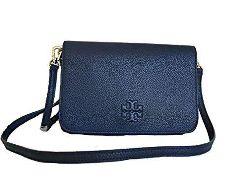 Tory Burch 55371 Thea Clutch Navy Shoulder Bag