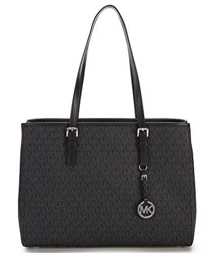 MICHAEL KORS Jet Set Travel EW Large Signature Tote black bag purse handbag MK