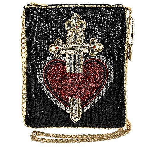 Mary Frances  Majesty Beaded Crossbody Handbag