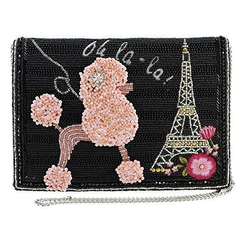 MARY FRANCES Oh La La Beaded Poodle, Paris Crossbody Clutch Handbag