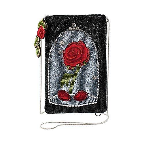 Mary Frances Disney Beauty and the Beast Rose Crossbody Handbag Purse, Black