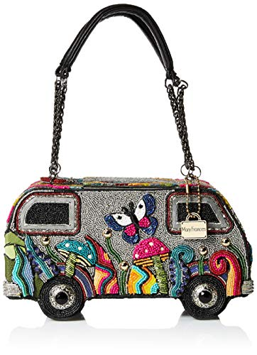 Mary Frances It's A Trip Embellished Bus Top-Handle Bag, Multi