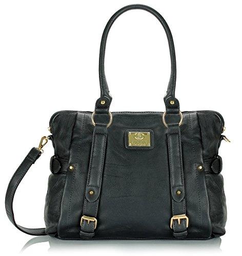 Scarleton Medium Belt Accent Tote Bag H126401 – Black