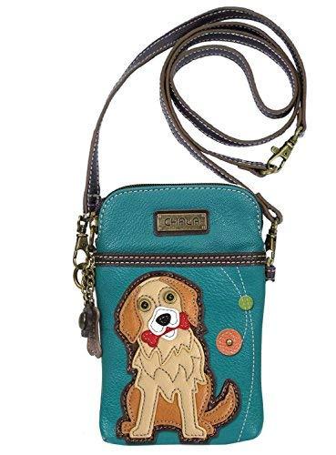Chala Golden Retriever Cellphone Crossbody Handbag – Convertible Strap