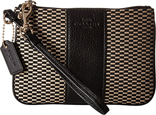 COACH Exploded Rep Small Wristlet Milk/Black One Size
